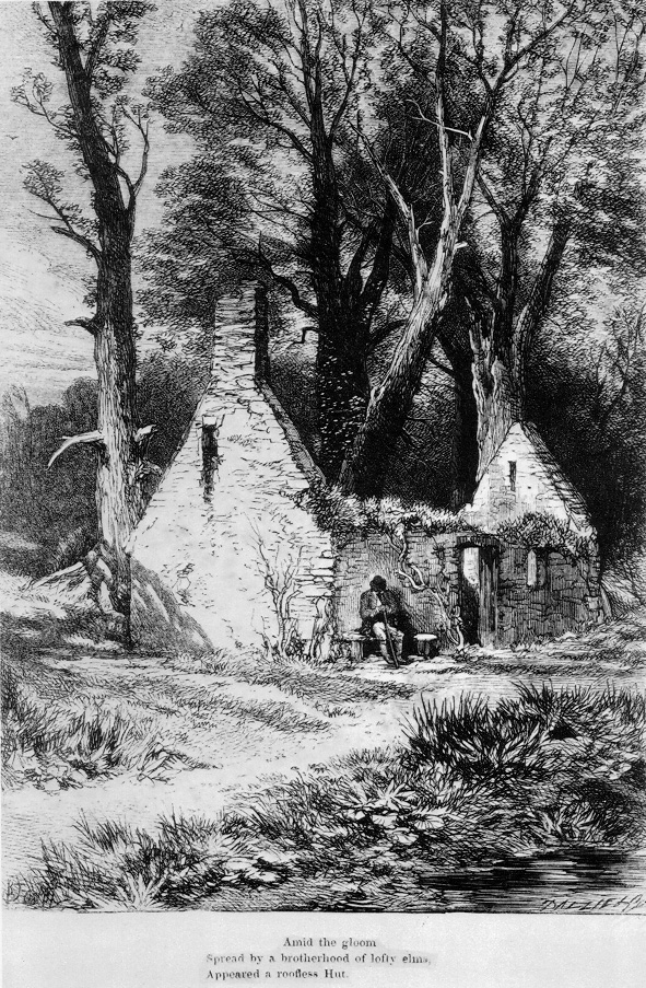 Myles Birket Foster's frontispiece to William Wordsworth, The Deserted Cottage (1859) engraved by the Brothers Dalziel.