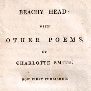 Title page of Charlotte Smith - Beachy Head with other poems