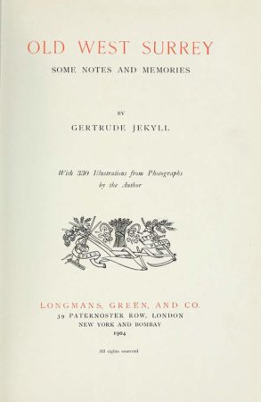 Old West Surrey by Gertrude Jekyll