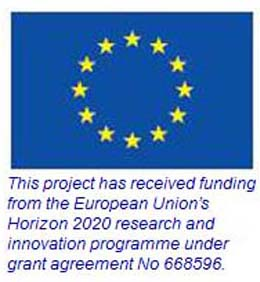 EU flag with wording that says This project has received funding from the European Union's Horizon 2020 research and innovation programme under grant agreement No 668596