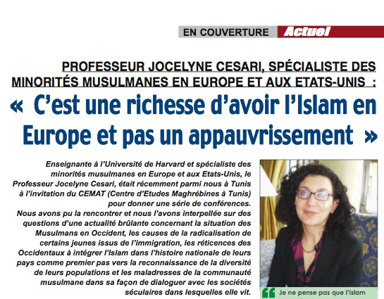 Interview with Dr. Jocelyne Cesari