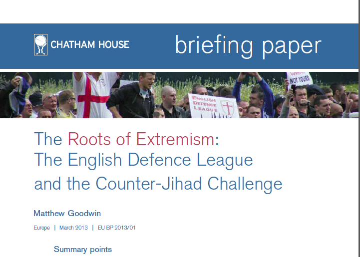 "Chatham House Briefing Paper Examines the Rise of ""Counter-Jihad"" Groups"