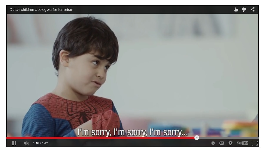 Dutch children apologize for terrorism [VIDEO]