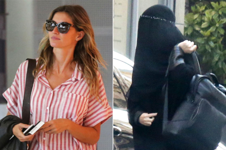 Gisele Bundchen accused of mocking Islam with burqa disguise in France