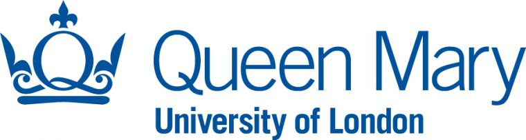 """Logo of Queen Mary, University of London. Styalised crown in a shape evoking the letters """"Q"""" and """"M"""" next to the text Queen Mary in large letters above the text """"University of London""""."""