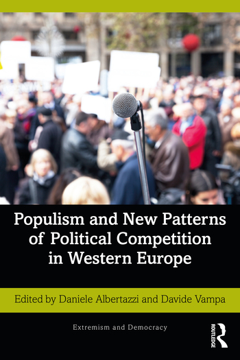 "Cover of ""Populism and New Patterns of Political Competition in Western Europe"" edited by Daniele Albertazzi and Davide Vampa"