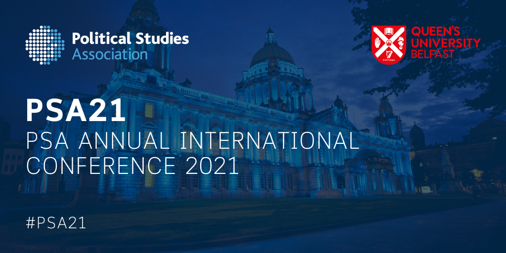 Banner image advertising the Political Studies Association International Conference 2021