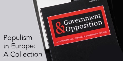 Adrian Favero Introduces Government & Opposition's Virtual Special Issue on Populism in Europe